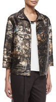 Lafayette 148 New York Griffen 3/4-Sleeve Printed Topper Jacket