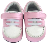 Jack & Lily Moc Toe Boat Shoe - Pink, Size 0-6m