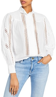 Frame Lace-Inset Blouse