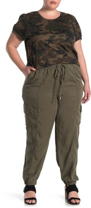 Love, Fire Pull-On Drawstring Joggers (Plus Size)