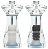 Jamie Oliver JC2881 Cookware Range Salt and Pepper Mill Gift Set, 13.5 cm - Acrylic, Clear
