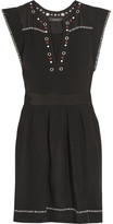 Isabel Marant Fergie Embellished Silk-twill Mini Dress - Black