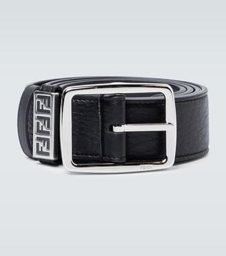 Fendi Classic buckle leather belt