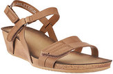 Clarks As Is Leather Wedge Sandals - Alto Gull