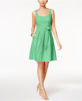 Nine West Belted Fit & Flare Dress
