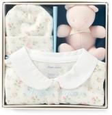 Ralph Lauren Girls' Floral Coverall, Hat & Bear Gift Box Set - Baby