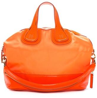 Givenchy Neon Orange Patent Leather & Nylon Nightingale Tote