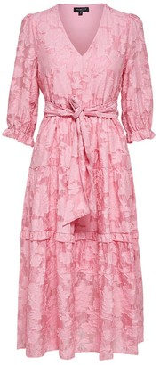 Selected Pink Rosebloom Sadie Midi Dress - 40
