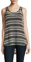 Vince Camuto Crocheted Hi-Lo Tank