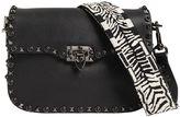 Valentino Rockstud Rolling Strap Leather Bag