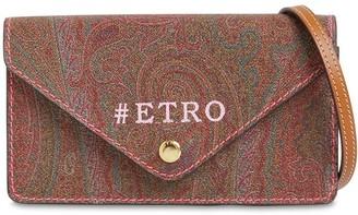 Etro Paisley Coated Canvas Shoulder Bag