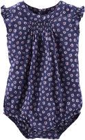 Osh Kosh Oshkosh Flutter Sleeve Print Bodysuit - Baby Girls 3m-24m