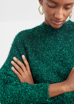 And other stories Fuzzy Metallic Sweater