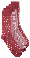 Topman Burgundy Assorted Pattern Socks 5 Pack