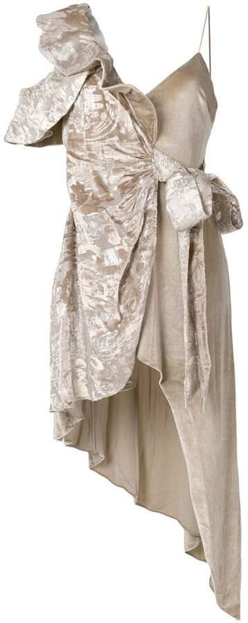 Self-Portrait Devore wrap dress