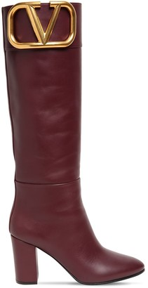 Valentino 85mm Super V Leather Tall Boots