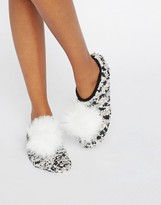Asos Holidays Cozy Footlet Socks With Pom