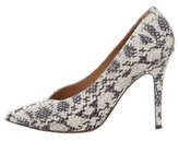 Isabel Marant Embossed Pointed-Toe Pumps