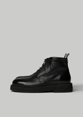 Marsèll Men's Micrucca Boot in Nero Size 41.5 Calfskin Leather/Rubber