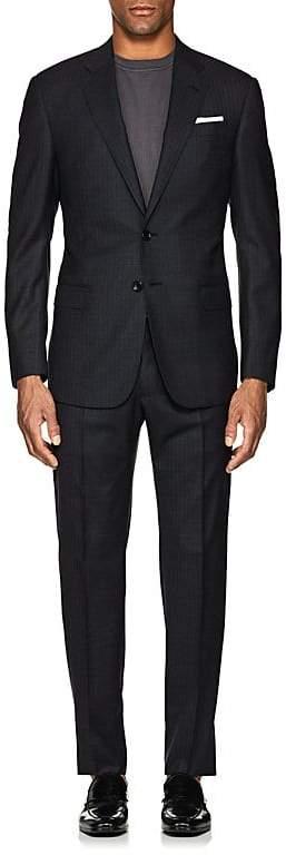 Giorgio Armani Men's Shadow-Striped Virgin Wool Two-Button Suit