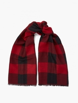 Valentino Red Checked Wool Scarf