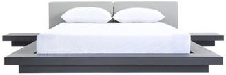 VIG Furniture Modrest Opal Modern Wenge and Gray Platform Bed, Eastern King