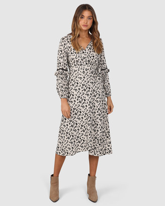 Lost in Lunar - Women's Black Long Sleeve Dresses - Larrson Wrap Dress - Size One Size, 8 at The Iconic