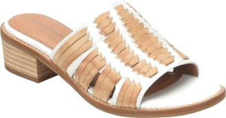 Comfortiva Leather Huarache Slide Sandals - Brileigh