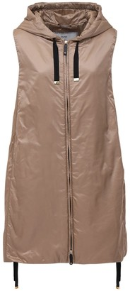 Max Mara Waterproof Quilted Nylon Vest Jacket
