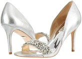 Badgley Mischka Ivy (Silver Metallic Suede) High Heels