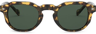 Vogue Eyewear Square Frame Tortoiseshell Sunglasses