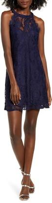 Speechless Sleeveless Lace Minidress