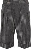Wooster + Lardini Wooster + Lardini - Grey Polka-dot Wool Shorts