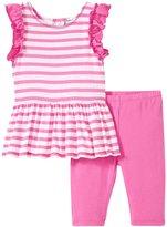 Splendid Stripe Dress Set (Baby) - Pink - 6-12 Months