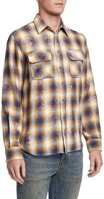 Purple Men's Flannel Sport Shirt