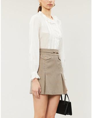 Claudie Pierlot Ruffled-trim cotton shirt
