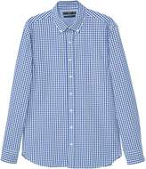 MANGO Men's Slim-fit gingham check shirt