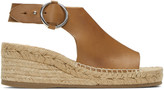 Rag & Bone Tan Calla Espadrille Wedge Sandals