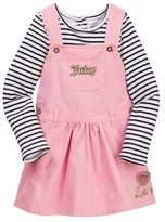 Juicy Couture Striped Top & Twill Jumper Set (Baby Girls 12-24M)
