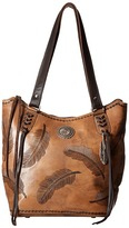 American West Sacred Bird Zip Top Bucket Tote Tote Handbags