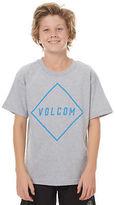 Volcom New Boys Kids Boys Pitcher Tee Crew Neck Short Sleeve Cotton Grey