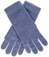 Black Ladies Denim Blue Cashmere Gloves