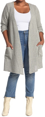 Forgotten Grace Boucle Ribbed Pocket Cardigan