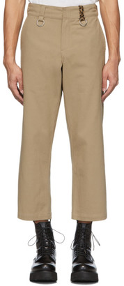 R 13 Khaki Rings Slouch Trousers