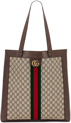 Gucci Ophidia GG Tote in Beige Ebony | FWRD