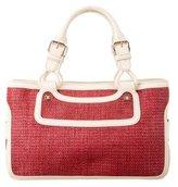 Celine Raffia & Leather Boogie Bag