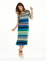 Scotch & Soda Striped Knitted Midi Dress