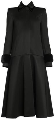 Fendi Mink Fur Cuff A-Line Coat