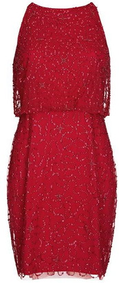 Hailey Logan Short Beaded Cocktail Dress