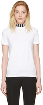 Versus White Logo Collar T-shirt